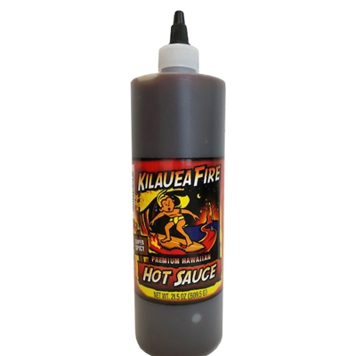 Kilauea Fire Hot Sauce 21.5 fl oz. Squeeze Bottles