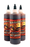 Kilauea Fire Hot Sauce 8 fl oz. Squeeze Bottles